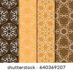 set of seamless vector patterns.... | Shutterstock .eps vector #640369207