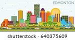 edmonton skyline with color... | Shutterstock .eps vector #640375609