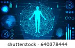 abstract technology concept... | Shutterstock .eps vector #640378444