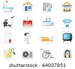accommodation amenities icon set | Shutterstock .eps vector #64037851