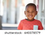 portrait of male pupil outside... | Shutterstock . vector #640378579