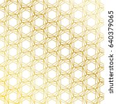golden seamless pattern... | Shutterstock .eps vector #640379065