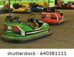 electric bumper cars or dodgem... | Shutterstock . vector #640381111