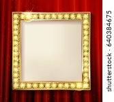 empty golden painting frame on... | Shutterstock .eps vector #640384675