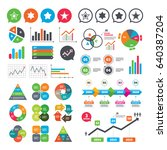 business charts. growth graph.... | Shutterstock .eps vector #640387204