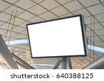 blank lcd screen mock up in... | Shutterstock . vector #640388125