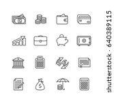vector finance pictograms | Shutterstock .eps vector #640389115