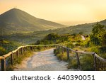 euganean hills yellow sunset...