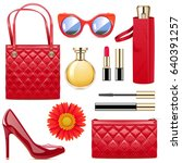 vector fashion accessories | Shutterstock .eps vector #640391257