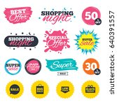 sale shopping banners. special... | Shutterstock .eps vector #640391557
