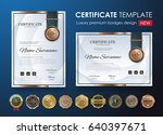 certificate template with... | Shutterstock .eps vector #640397671