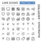vector line icons for... | Shutterstock .eps vector #640397905
