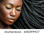 extreme close up beauty... | Shutterstock . vector #640399927
