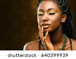close up studio portrait of... | Shutterstock . vector #640399939