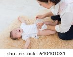 asian baby crying | Shutterstock . vector #640401031