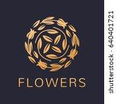 floral logo. flower icon.... | Shutterstock .eps vector #640401721