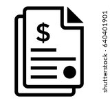 bank statement vector icon | Shutterstock .eps vector #640401901