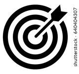 bullseye vector icon | Shutterstock .eps vector #640404307
