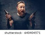emotional  funny redhead... | Shutterstock . vector #640404571