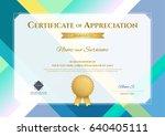 modern certificate of...   Shutterstock .eps vector #640405111