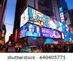 new york city  manhattan  apr... | Shutterstock . vector #640405771