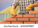 masonry. | Shutterstock . vector #640409887