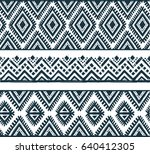 set of line tribal ethnic... | Shutterstock .eps vector #640412305