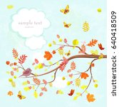 lovely invitation card with... | Shutterstock .eps vector #640418509
