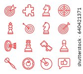 strategy icons set. set of 16... | Shutterstock .eps vector #640421371