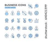 set of business related vector... | Shutterstock .eps vector #640421599