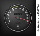 car speedometer. vector... | Shutterstock .eps vector #64042744