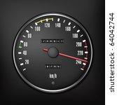 car speedometer. vector... | Shutterstock .eps vector #64042744