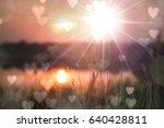 golden heaven light hope... | Shutterstock . vector #640428811