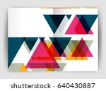 triangle business annual... | Shutterstock . vector #640430887