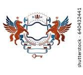 graphic vintage emblem composed ... | Shutterstock .eps vector #640432441