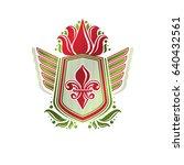 vintage heraldic emblem created ... | Shutterstock .eps vector #640432561