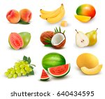 Collection Of Fruit And Berrie...