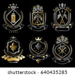 set of vector vintage elements  ... | Shutterstock .eps vector #640435285