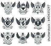 vintage emblems  vector...   Shutterstock .eps vector #640435297