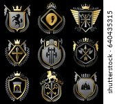 vector vintage heraldic coat of ... | Shutterstock .eps vector #640435315