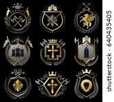 vector vintage heraldic coat of ... | Shutterstock .eps vector #640435405