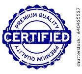 grunge blue premium quality... | Shutterstock .eps vector #640435537