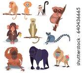 different breads monkey... | Shutterstock .eps vector #640436665