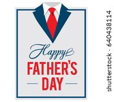 happy father s day greeting... | Shutterstock .eps vector #640438114