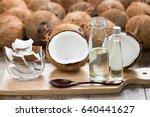 Wood Spoon And Virgin Coconut...