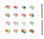 brain icons  | Shutterstock .eps vector #640443709