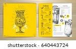 vintage typography cocktail... | Shutterstock .eps vector #640443724