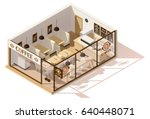 vector isometric low poly... | Shutterstock .eps vector #640448071