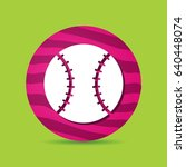 baseball vector icon. flat... | Shutterstock .eps vector #640448074