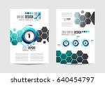 brochure template  flyer design ... | Shutterstock .eps vector #640454797